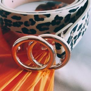 MischkaPu Accessories - Leopard Double O Ring Belt